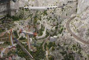 Bjerglandskab fra Miniatur Wunderland