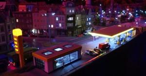 Jet Station - aften - Miniatur Wunderland