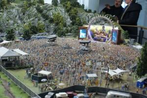 Koncert i Miniatur Wunderland