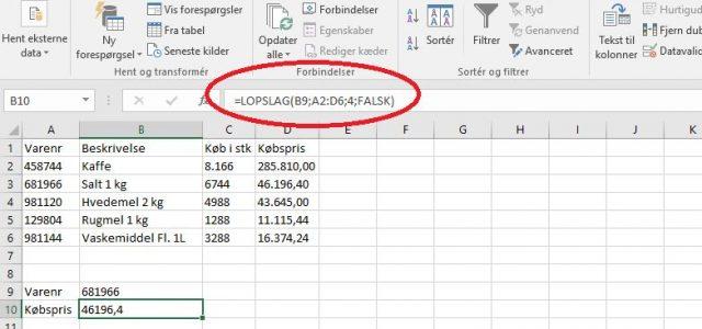 Jeg bruger rigtig tit L-opslag i Excel til finde en værdi i en liste. F.eks. som denne lidt simple udgave af et datasæt:27 I ovenstående eksempel, vælger man et varenummer […]